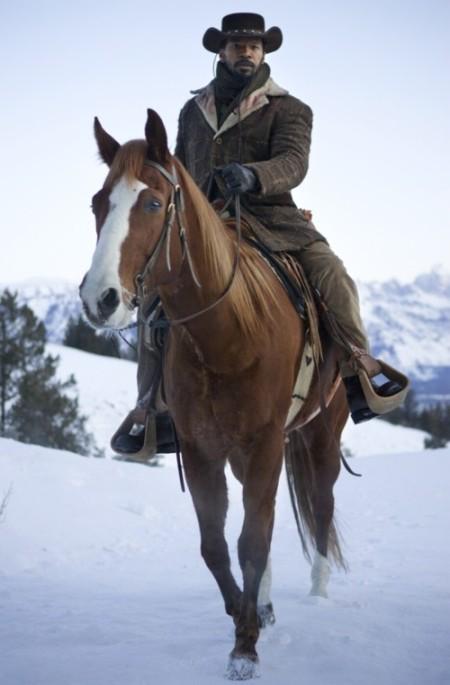 Jamie Foxx als Django und ein namenloses Pferd (Bild: Sony Pictures)