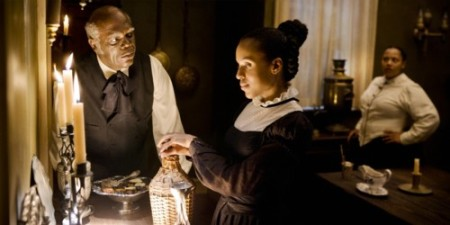 Samuel L. Jackson als Stpehen und Kerry Washington als Broomhilda von Shaft (Bild: Sony Pictures)