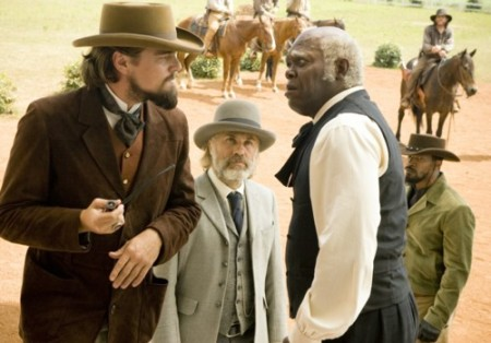 Leonardo DiCaprio, Christoph Waltz, Samuel L. Jackson, Jamie Foxx (Bild: Sony Pictures)