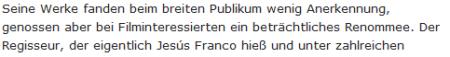 Screenshot Berliner Zeitung Jess Franco Todesmeldung