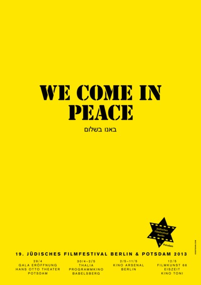 We come in peace - Plakat JFF 2013