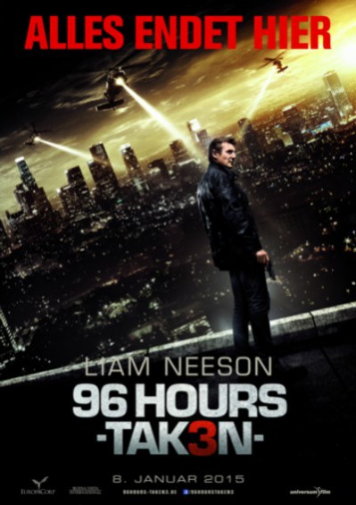 96 Hours - Taken 3 - Plakat