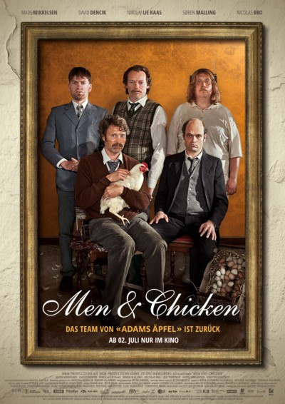 Men and Chicken - Plakat